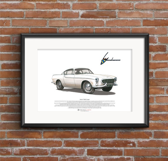 Volvo P1800 Coupe ART POSTER A3 size