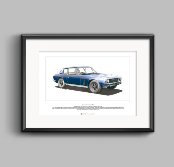 Jensen Interceptor Mkl Limited Edition Fine Art Print A3 size