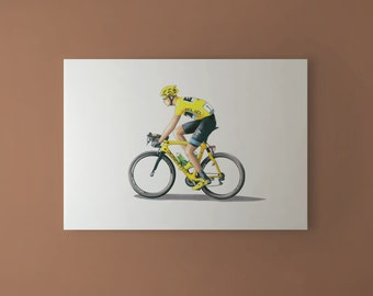 Chris Froome - Tour de France 2013 Winner CANVAS PRINT