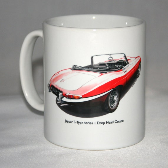voiture classique mug insigne de jaguar e type s1 dhc boot. Black Bedroom Furniture Sets. Home Design Ideas