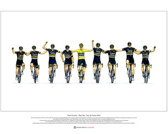 Chris Froome - Team Sky - Tour de France 2016 ART POSTER A2 size