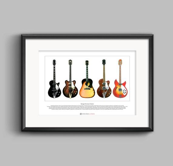 George Harrison/'s Stratocaster Rocky guitar Ltd Edition Fine Art Print A3 size