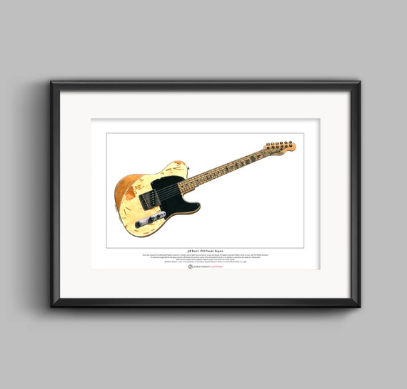 Jeff Beck/'s 1954 Fender Esquire Limited Edition Fine Art Print A3 size