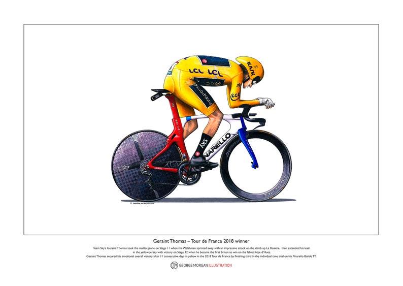 Geraint Thomas TT Tour de France 2018 Ltd Edition Fine  2eb934595