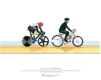 Sir Chris Hoy, Keirin, London 2012 Olympics ART POSTER A3 size