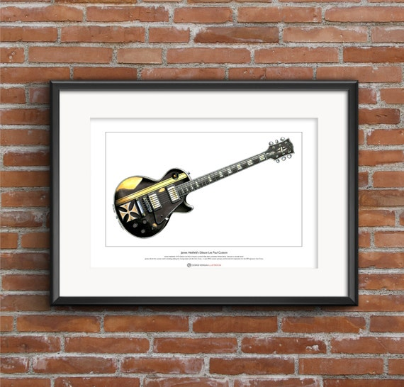 James Hetfield/'s Gibson Les Paul Iron Cross  Greeting Card DL size