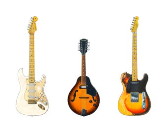David Gilmour's Guitars Greeting Card, DL size