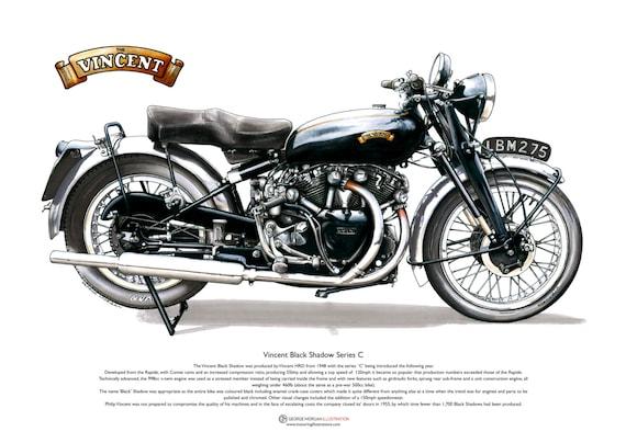 Vincent Black Shadow Series C ART POSTER A3 size