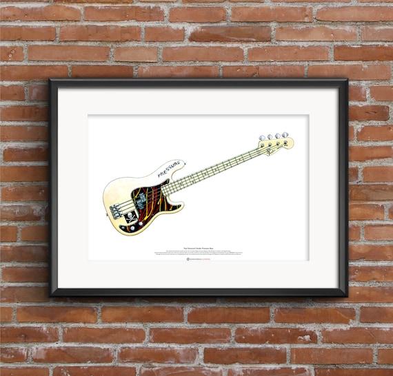 Porte-cl/és Guitare Fender Rocky Stratocaster George Harrison The Beatles