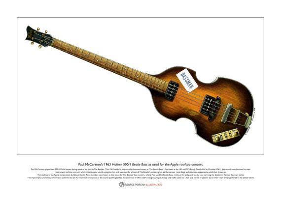 Paul McCartneys 63 Beatle Bass Bassman Sticker