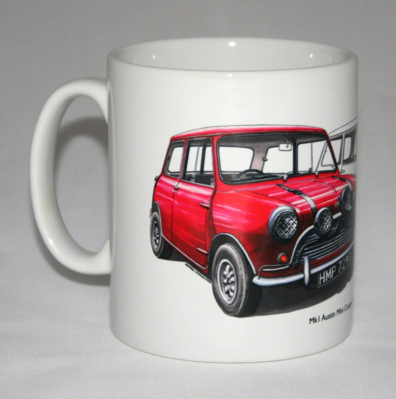 Classic Car Mug Mk1 Austin Mini Cooper S The Italian Job Etsy