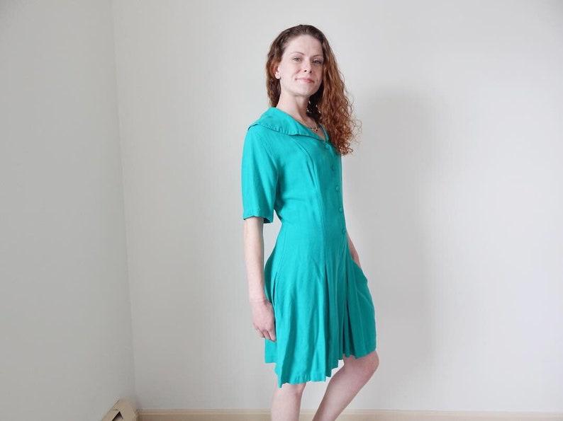 womens turquoise blue romper vintage 80s oversized romper short sleeve teal blue aqua blue romper jumper sailor suit shorts one piece onesie