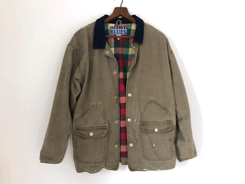 736186adc031 Womens outdoors coat canvas khaki plaid hipster fall jacket