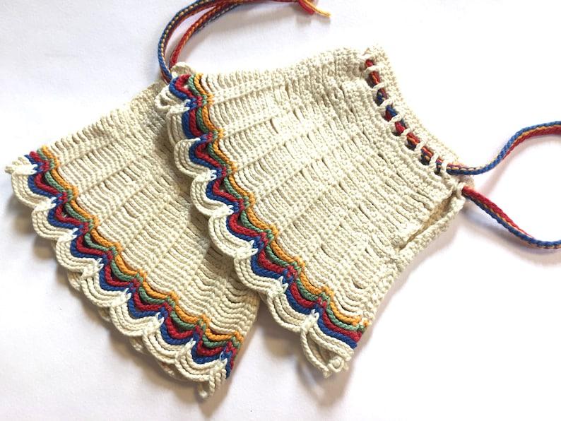 vintage 70s hippie wrist wraps rainbow gloves striped wrist warmers hand warmers boho gloves cool gloves hippie costume knit hand warmers