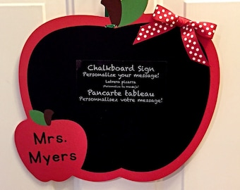 Teacher Apple Chalkboard - Personalized, Limited Quantities