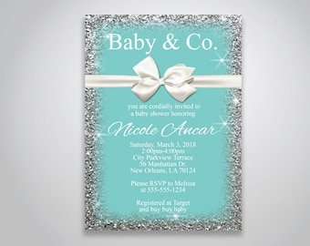 teal baby shower etsy