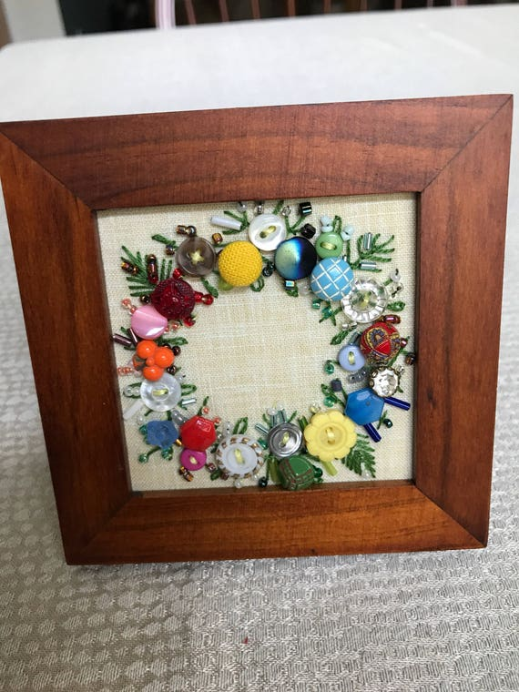 Antique Hand Embroidered Buttons