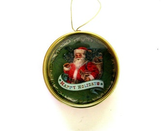 Santa ornament, Gift for Christmas, Gift for coworkers, Holiday tree decor, Ornament for Christmas trees, Handmade ornament, Ornament