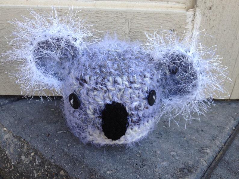 Koala bear crochet hat newborn baby photo prop  4717481a11fa
