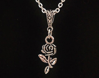 Bookish necklace: Dorothy Parker - One Perfect Rose - for Valentine's