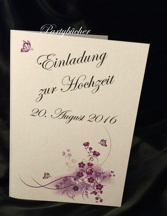 Wedding Invitation Card Incl Envelope Print