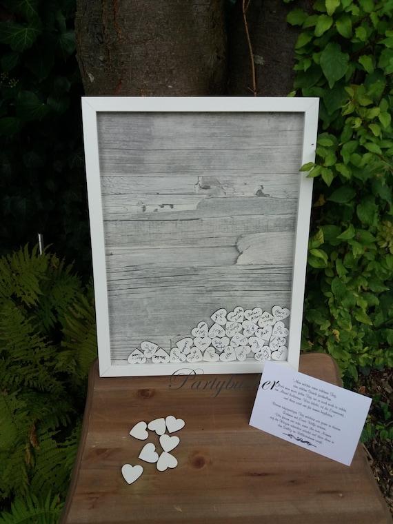 Gastebuch Mit Einwurf Holzherzen Holzgastebuch Etsy