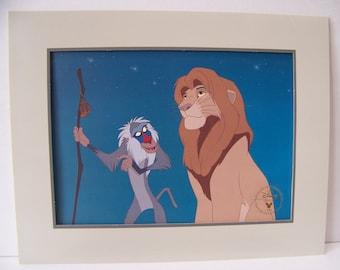 Vintage Disneyu0027s The Lion King Exclusive Commemorative Lithograph  1995.Disney Collectibles.Lion King Baby Shower.Kids Bedroom Decor.Lions.