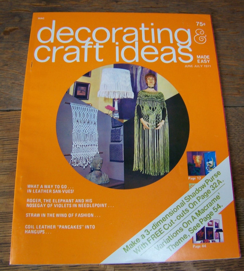 Vintage Decorating Craft Ideas Made Easy June July Etsy