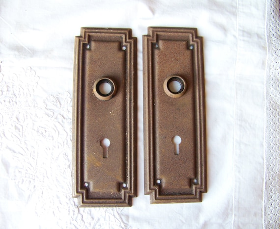 image 0 - Antique Shabby Chic Door Plates Set Of 2Antique Door Etsy