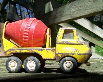 Vintage Toy Tonka Cement Mixer Truck.Yellow Tonka Truck.Small Tonka Truck.Collectible Toy Truck.Construction Toy.1970's Boys Toys.Tonka Toys