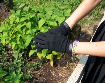 Vintage Ladies Black Gloves, Black Evening Gloves, 1960s Accessories, Gloves for Ladies, Girls Gloves, 50s Gloves, Free Shipping U.S.