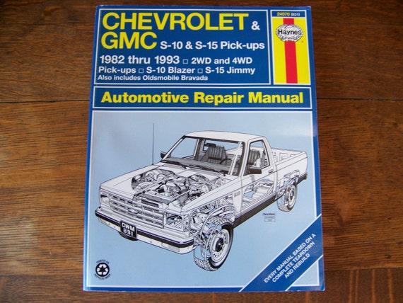 vintage haynes chevrolet gmc automotive repair manual 1994 rh etsy com Chevrolet Engine Parts Diagram Chevrolet Parts Lookup