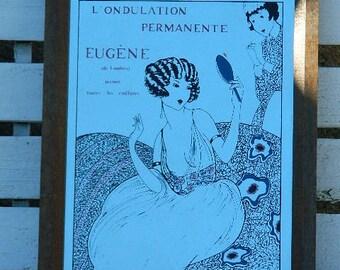 """Miroir publicitaire """" Eugéne """""""