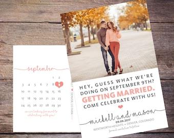 Save the Date Postcard, Save-the-Date Card, Calendar, Photo, DIY Printable, Digital File – Mickell