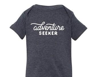 Adventure Seeker Baby Onesie, Hip Adventurous Baby Bodysuit