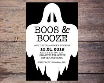 ghost halloween invitations spooky party invitations etsy
