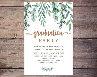 Graduation Party Invitation Etsy