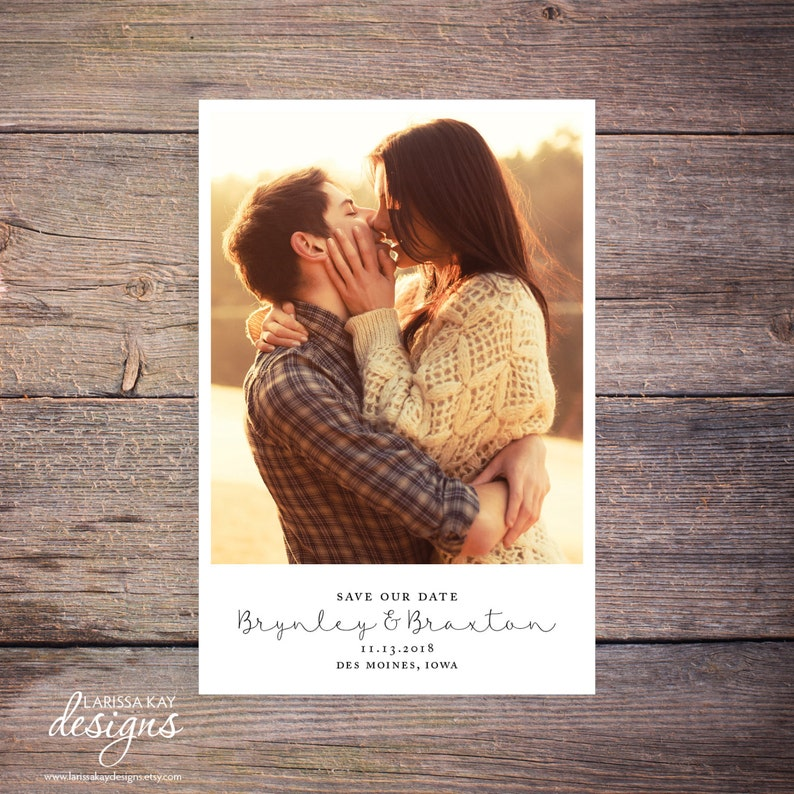Save the Date Postcard Save-the-Date Card Calendar Photo image 1