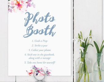 Printable Photo Booth Sign, Strike a Pose, Printable Digital File, INSTANT DOWNLOAD