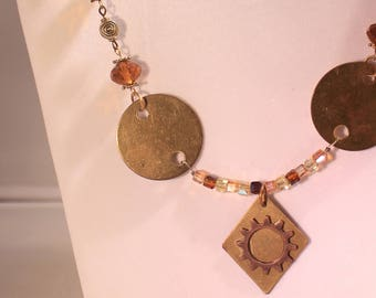 Brass  & Amber Necklace
