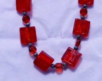 Red Cube necklace