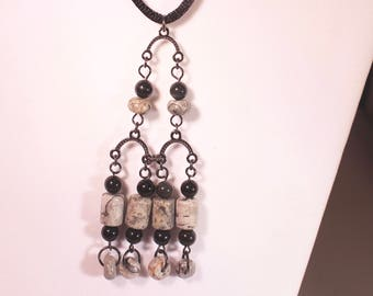 Black Marble Necklace
