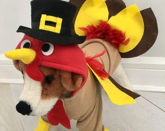Turkey costume- Dog thanksgiving costume- Dog turkey costume by FiercePetFashion & Turkey costume pets   Etsy