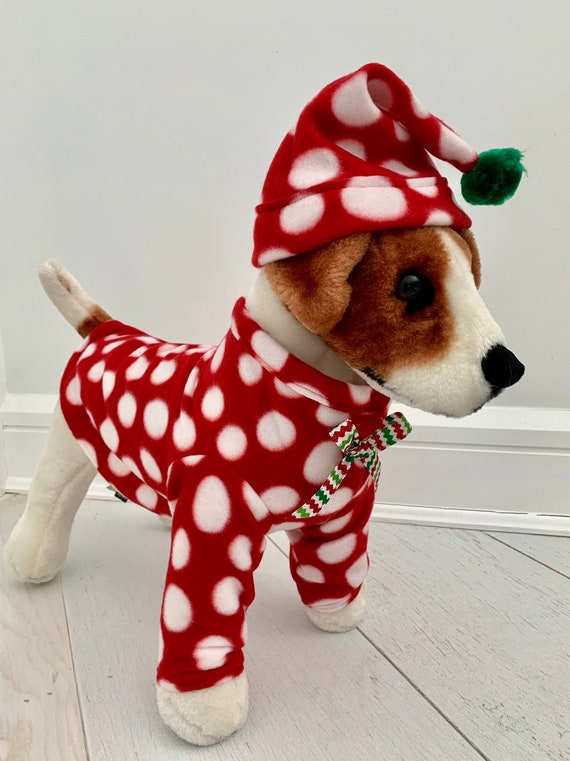 Christmas Pajamas For Dog.Dog Christmas Pajamas Christmas Costume Dog Fleece Pajamas Dog Christmas Costume By Fiercepetfashion