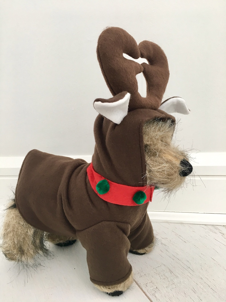 Christmas costume by FiercePetFashion Reindeer costume Dog christmas costume