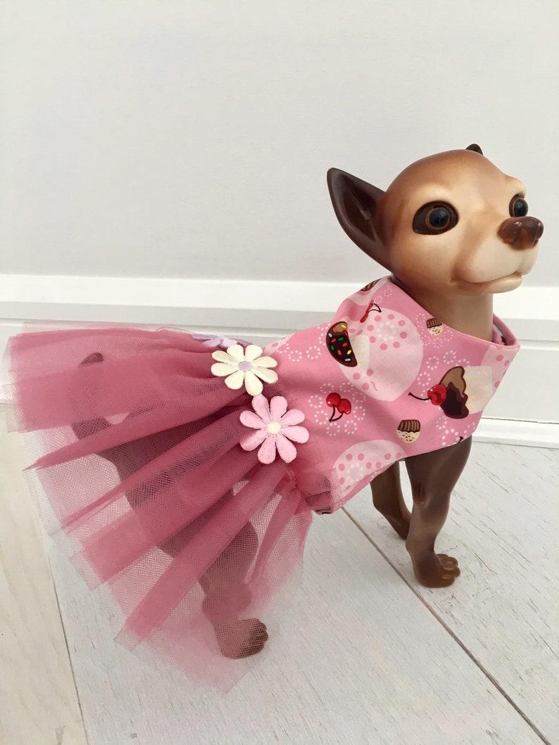 8be32524484b Cupcake print tutu Dress Dog pink dress by FiercePetFashion | Etsy