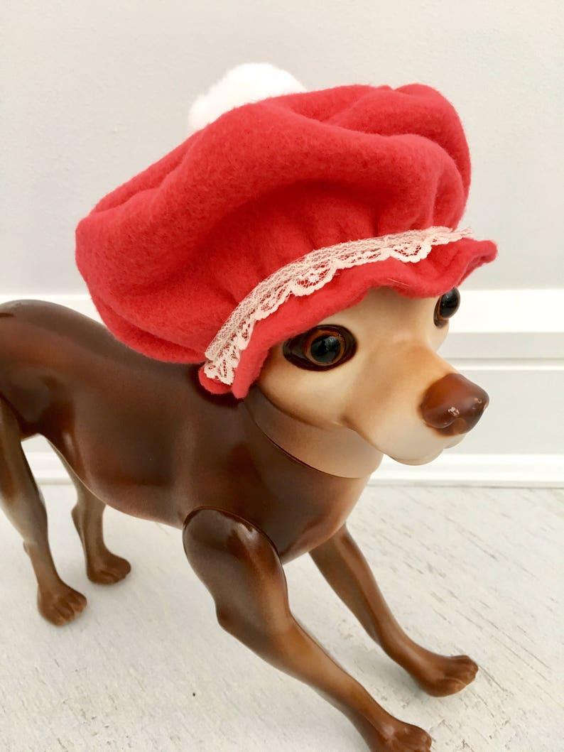 Christmas bonnet by FiercePetFashion