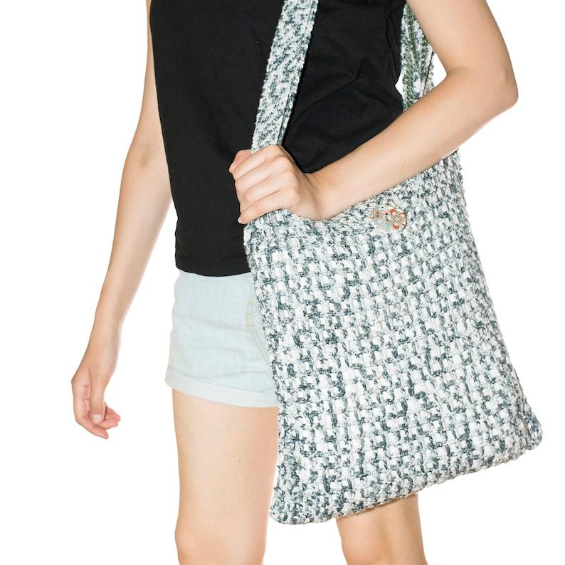 Crochet Boho Bag Cotton Market Bag Womens Accessories Festival Tote Bag Handmade Womens Handbag