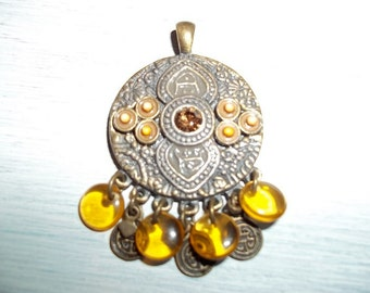 Vintage OHM 1970s Eastern Inspired Pendent