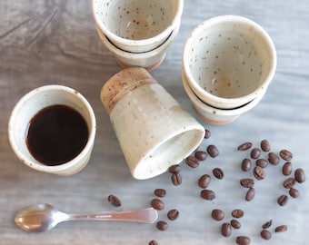 Espresso tumblers ceramic coffee cups italian espresso coffee cups small coffee mug gift for coffee lovers  Set of 6 espresso tumblers